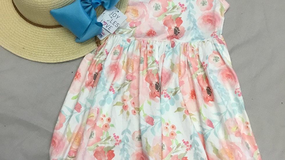 Watercolor Flowers Dress