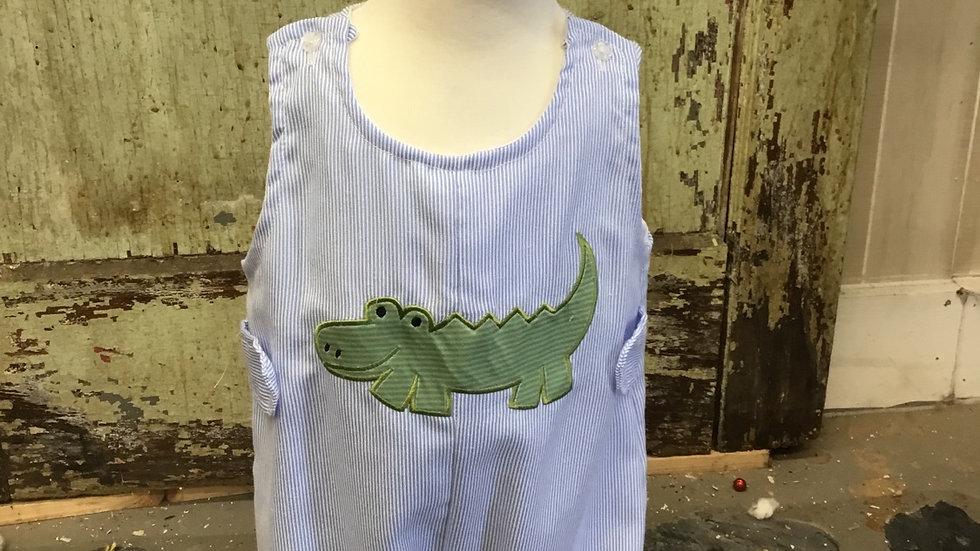 Infant Boys Alligator Appliqué Shortall