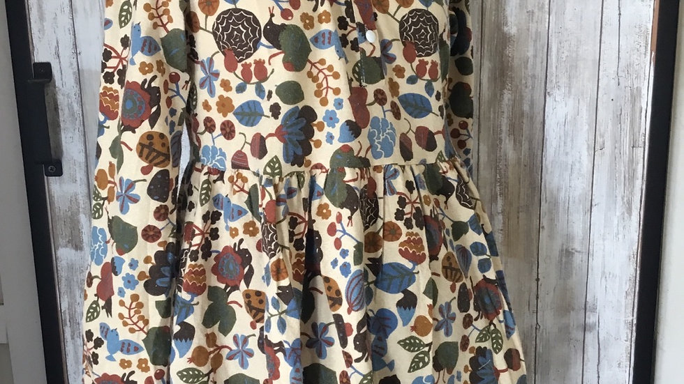 Bohemian Floral Print Tunic with Side Pockets