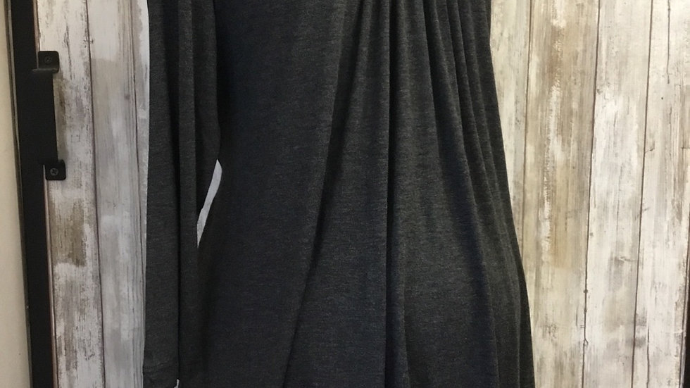 Charcoal Gray Gathered Front Top