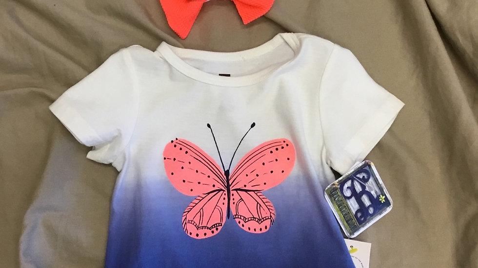 Butterfly Dip Dye Tee