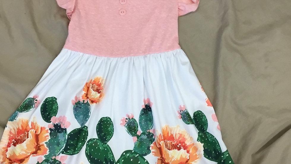 Floral Cacti Dress