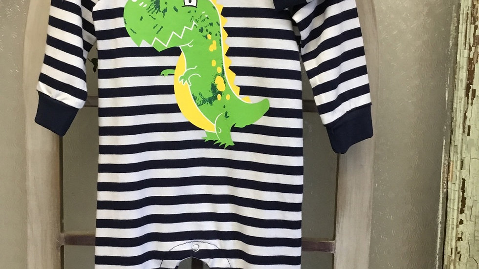 Infant Boys Dino Striped Onsie