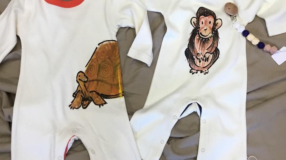 One Hope Tortoise/ Chimp Onsie