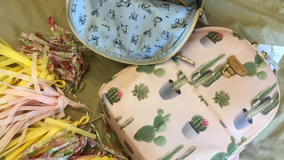 Pink Cactus Print Mini Go Diaper Bag/Back Pack