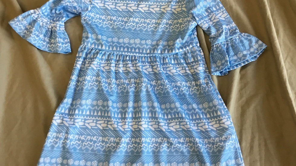 Light Blue Knit Amy Dress