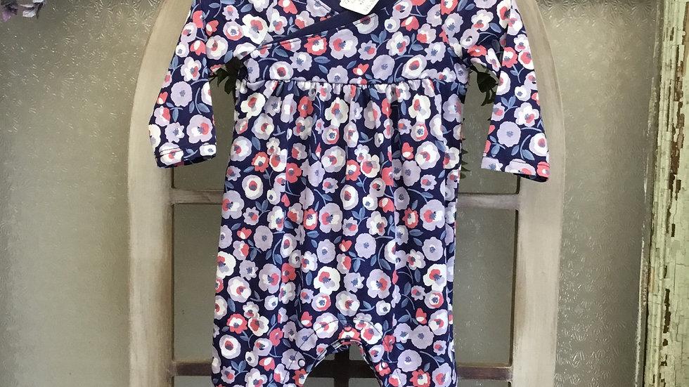 Floral Print Kimono Style Onsie