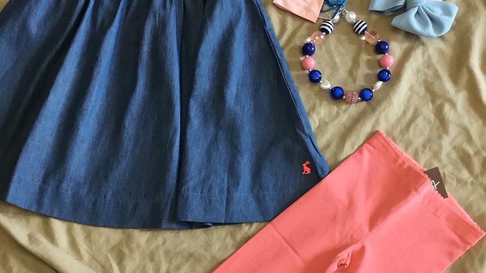 Chambray Happy Dress