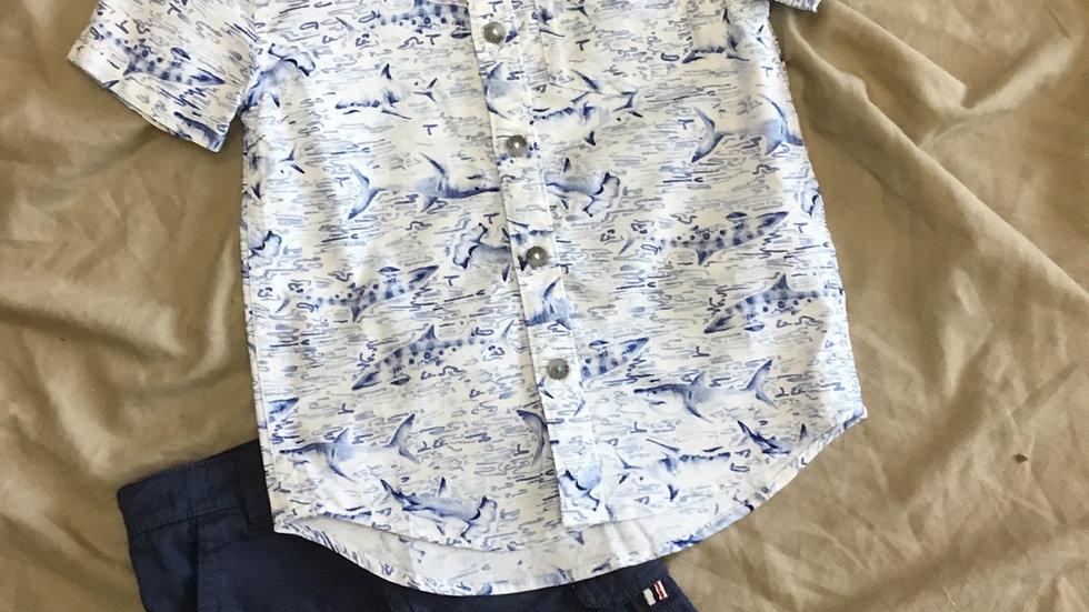 Navy Sharks Shirt