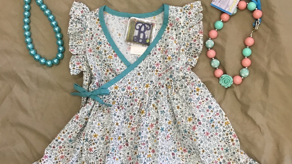 Nile Floral Chalk Crosstie Dress