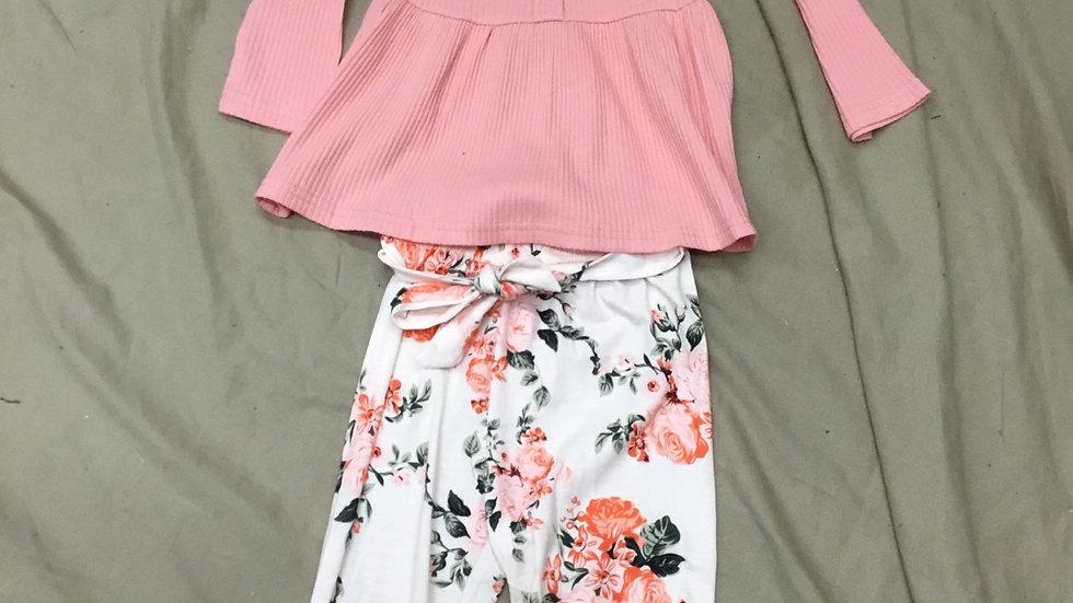 Pink Floral 3 Piece Set