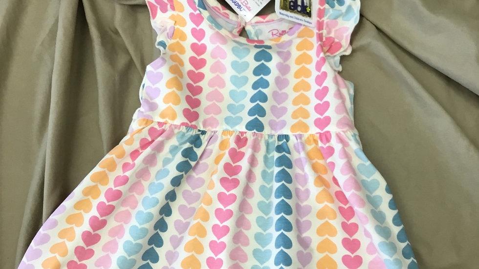 Ruffle Butts Rainbow Hearts Dress