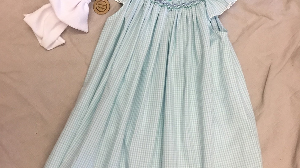 Come Sail Away Hand Smocked Dress