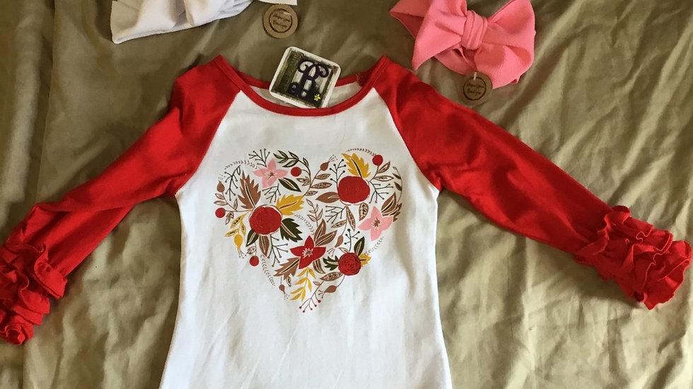 Fleur De Love Ruffle Shirt