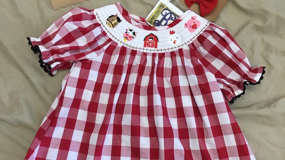 Farm Smocked Dress