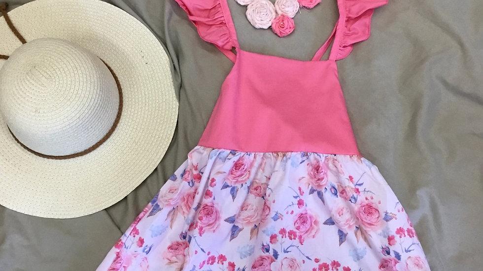 Pink Floral Summer Dress