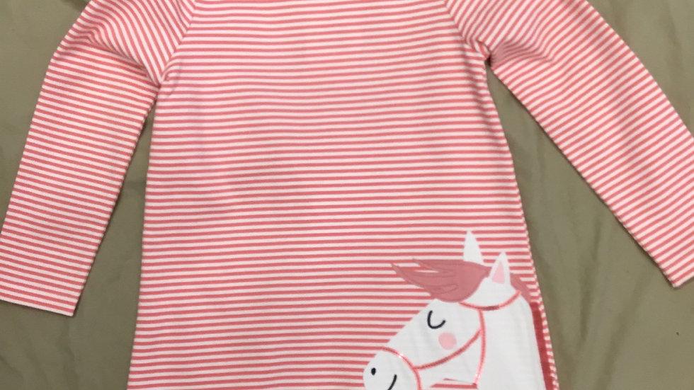 Pink Stripe Pony Dress