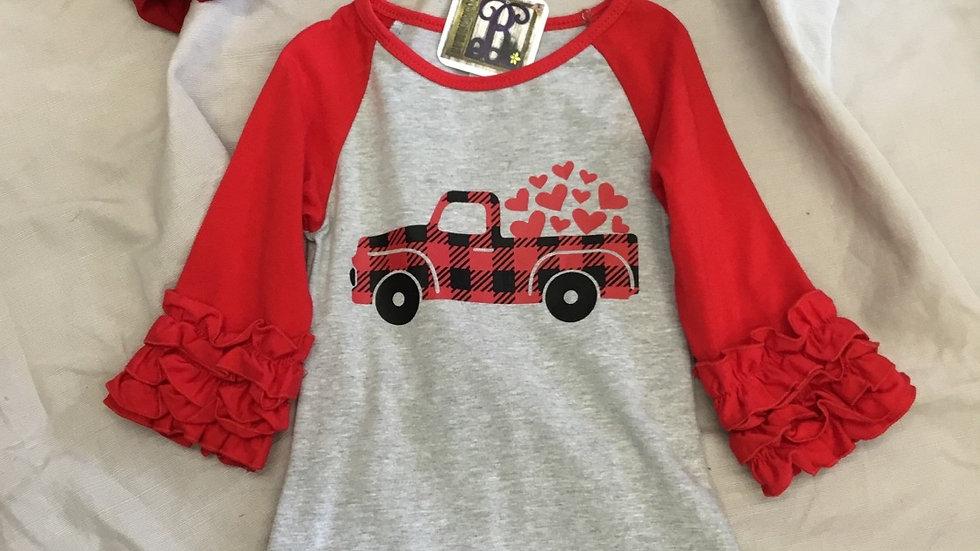 Truck Full of Love Ruffle Shirt