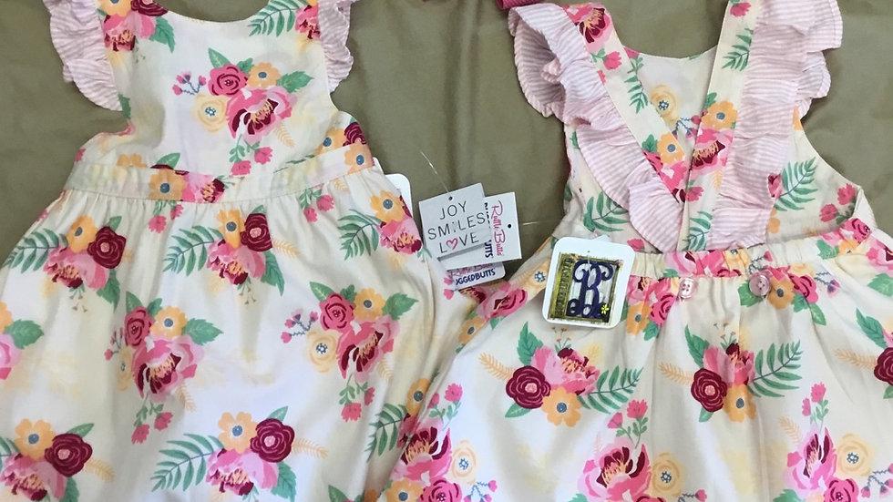 Ruffle Butts Darling Bouquet Pinafore Dress