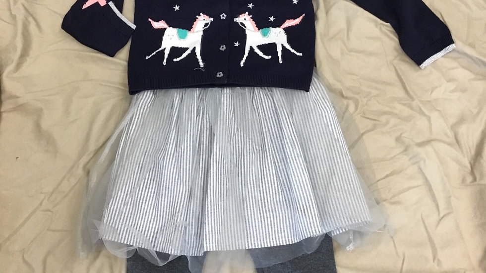 Blue Horse Sweater
