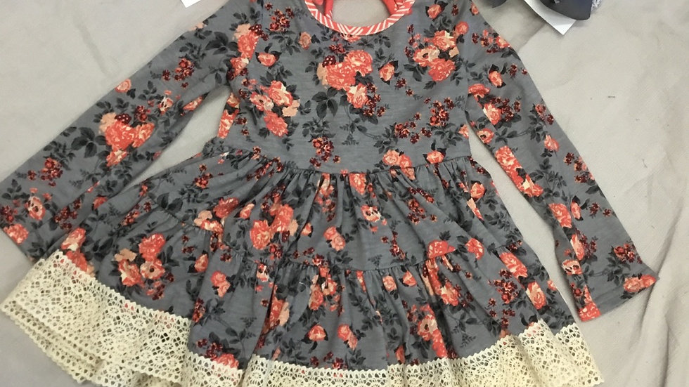 Ruffled Roses Tiered Dress