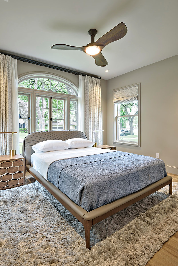 Guest Bedroom Historic Home Renovation in the Jarrett House in Austin, TX