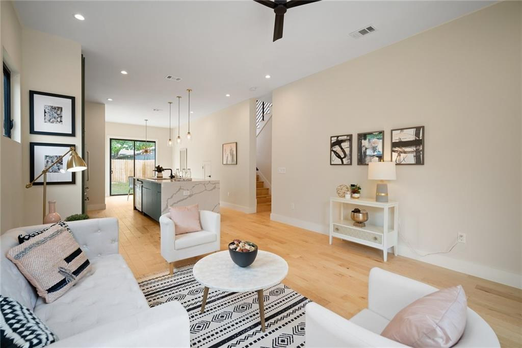 Large Living Area in the New Build on Grover Street in Austin, TX