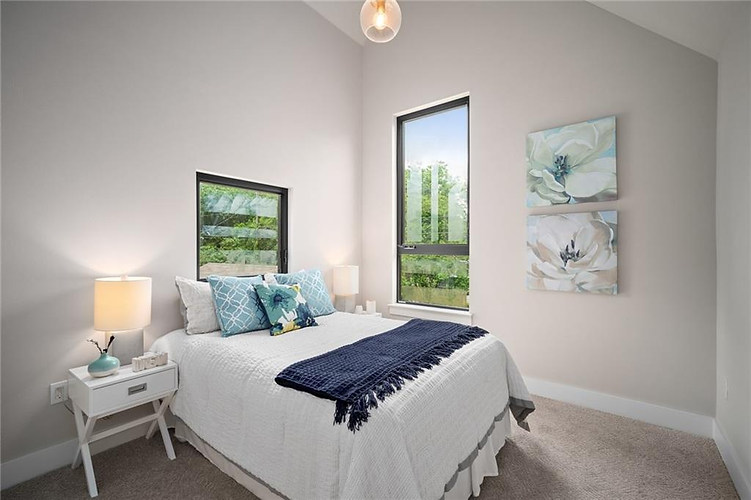Guest Bedroom in the New Build on Grover Street in Austin, TX