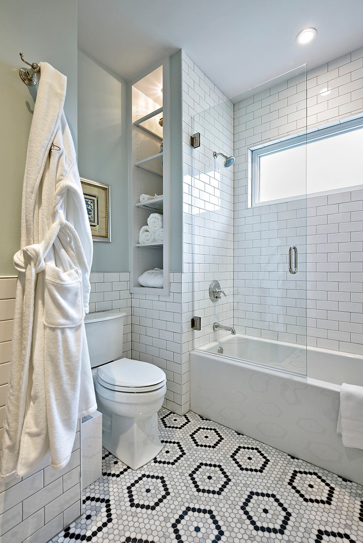 Guest Bathroom Historic Home Renovation in the Jarrett House in Austin, TX