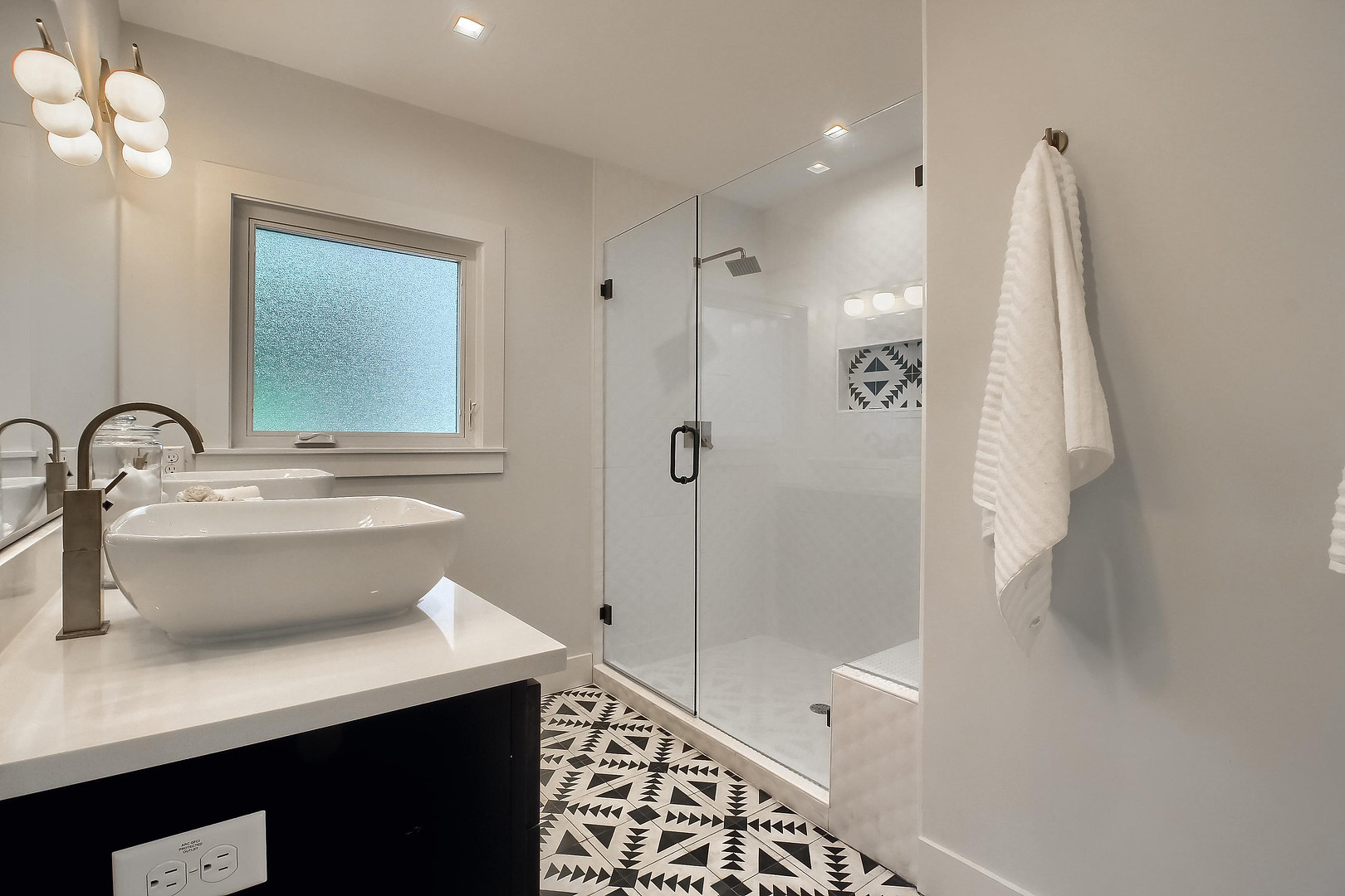 Home Renovation Master Bathroom Walk in Shower on West 29th in Austin, Texas