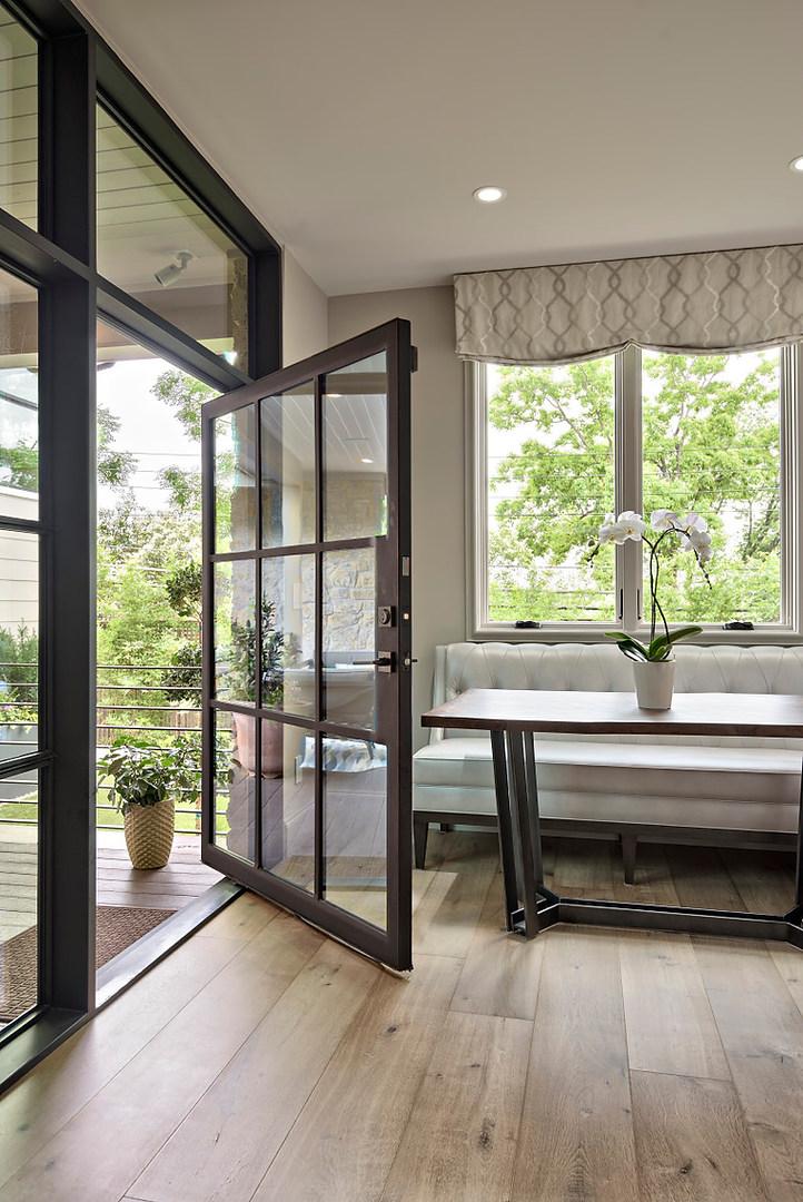 Historic Home Renovation Glass Doors in the Jarrett House in Austin, TX