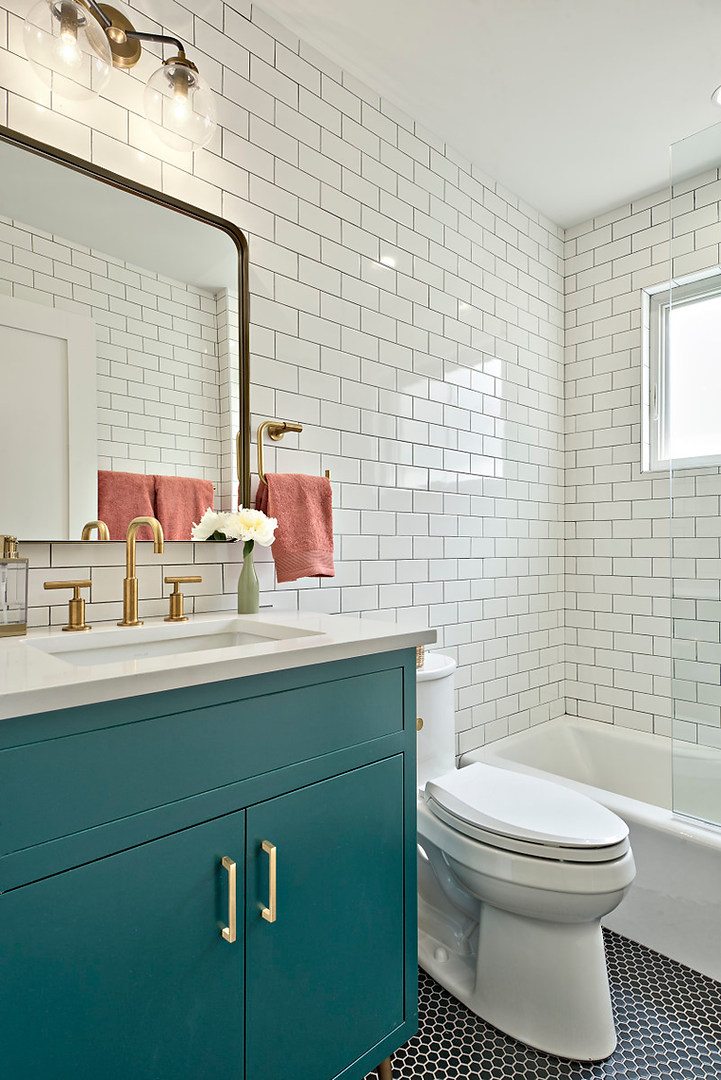 Historic Home Renovation Guest Bathroom in West 11th in Austin, Texas