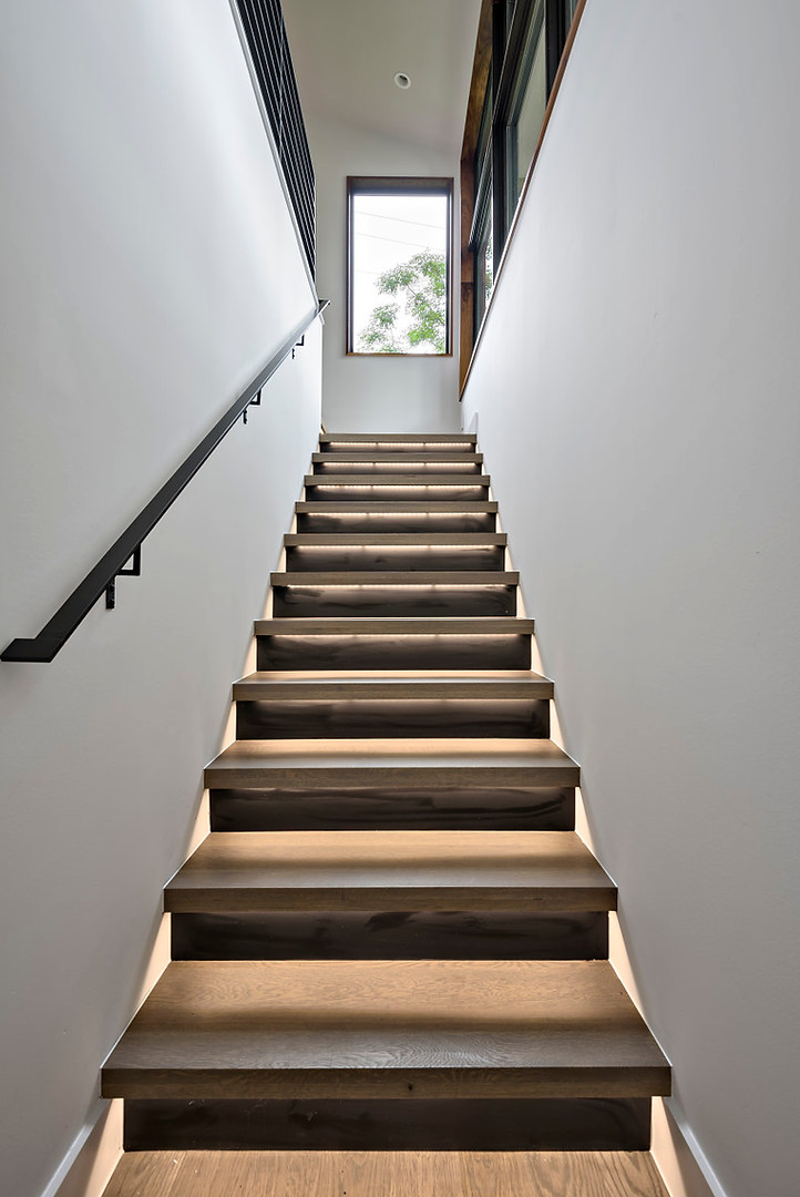 Stairway in the Historic Home Renovation on Jarrett in Austin, TX