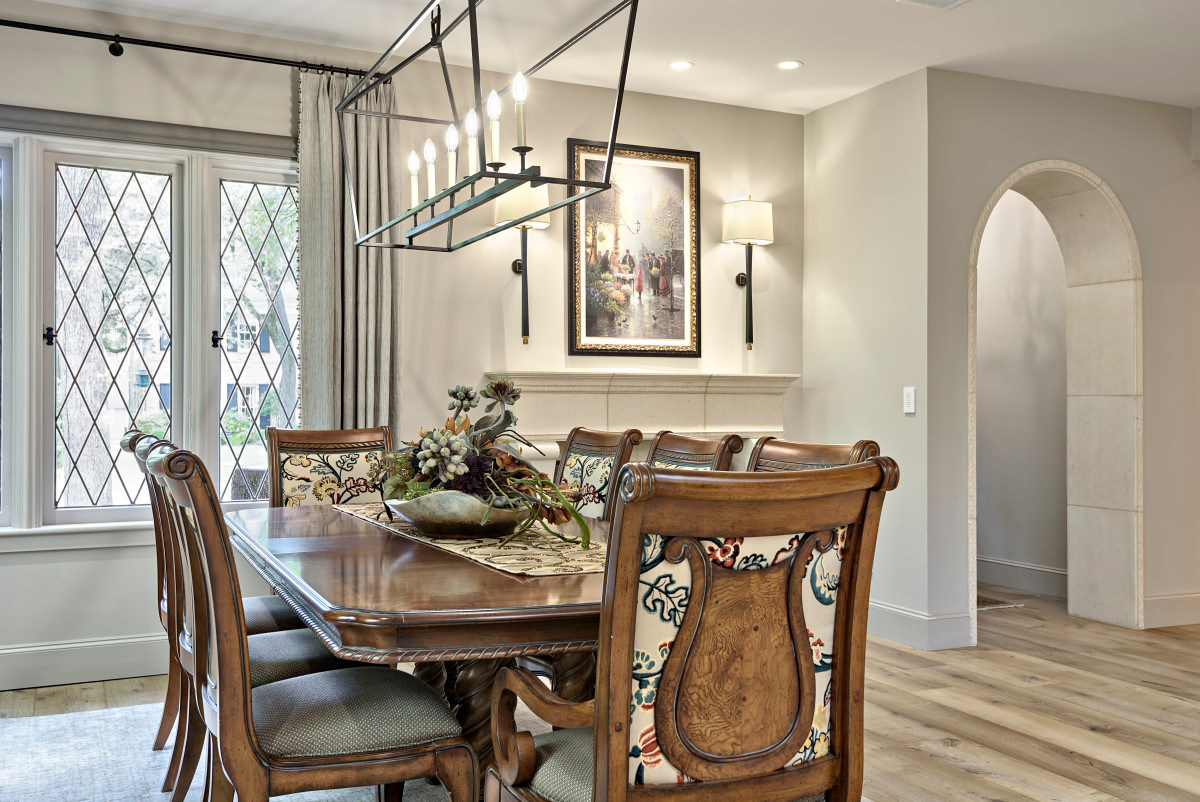 Formal Dining Room Historic Home Renovation in Features in the Jarrett House in Austin, TX