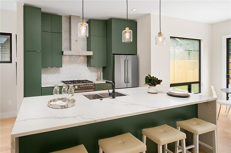 Kitchen features in the new build on Grover in Austin, TX