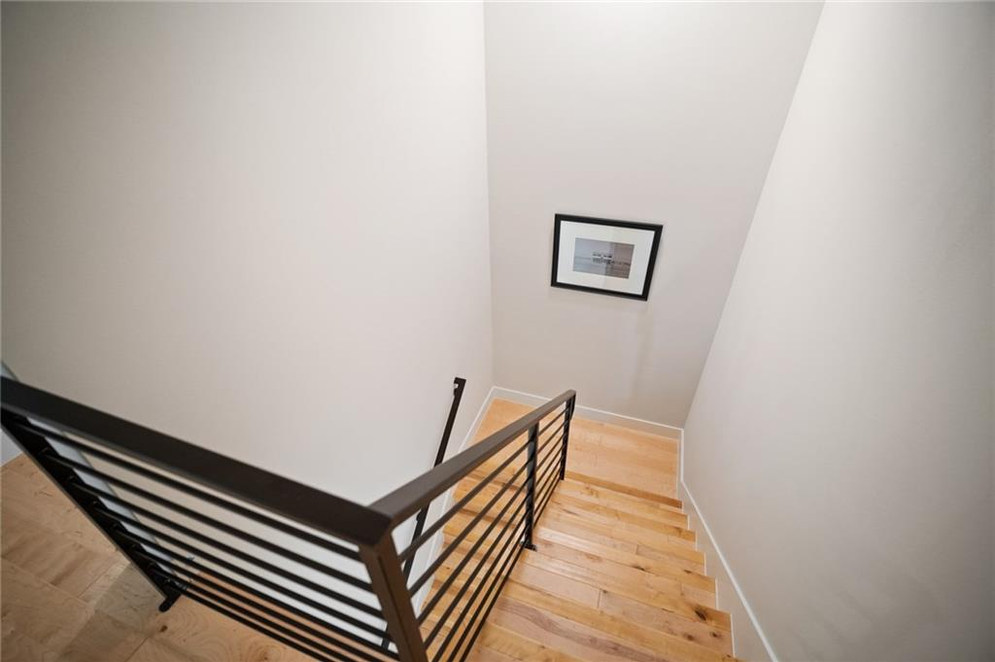 Stairway featured in the New Build on Grover Street in Austin, TX