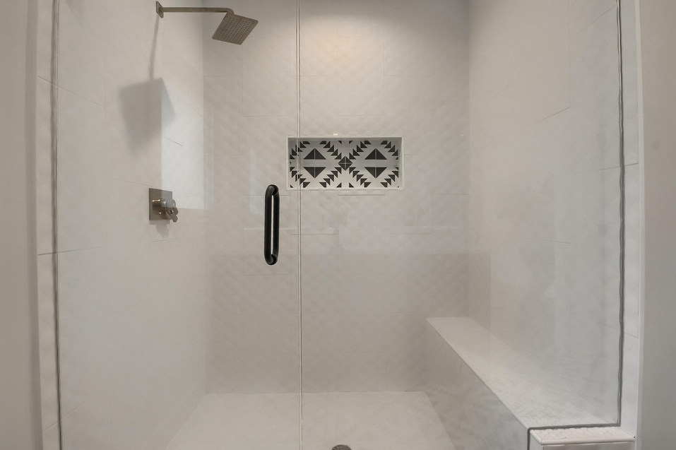 Home Renovation Bathroom Shower Accent Features on West 29th in Austin, Texas