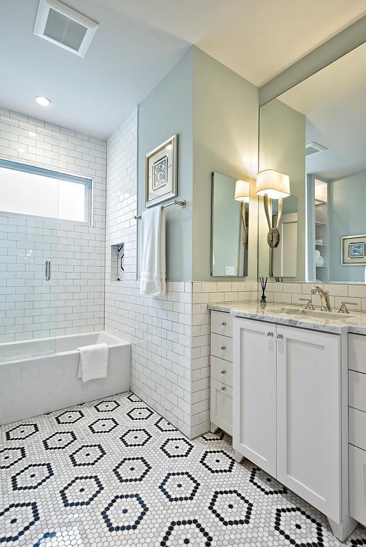 Guest Bath Historic Home Renovation in the Jarrett House in Austin, TX