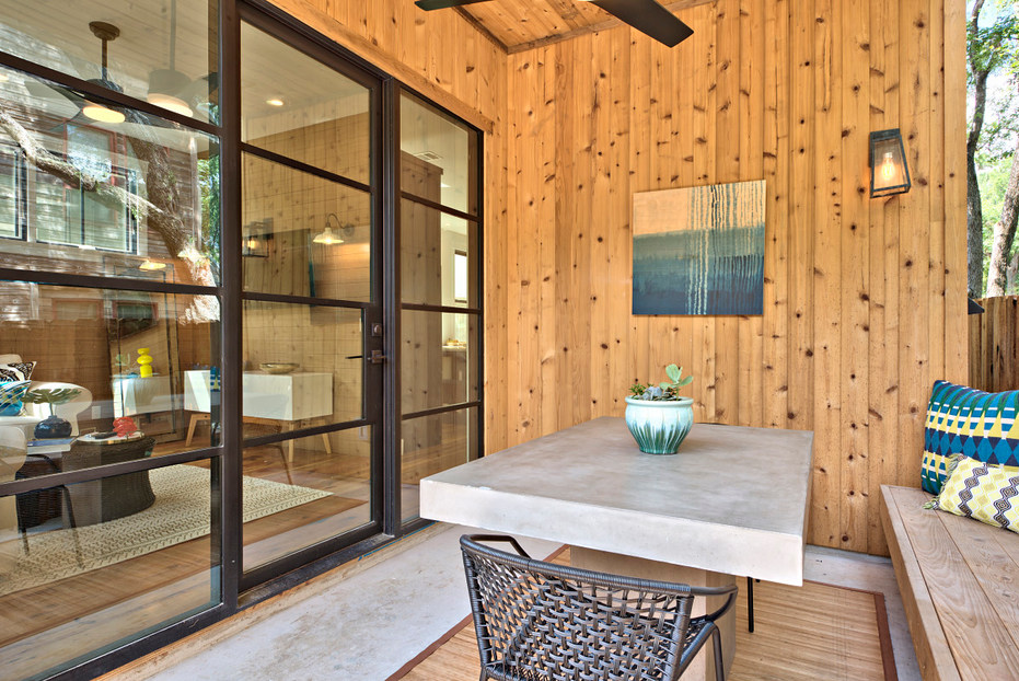 Historic Home Renovation Outdoor Patio in West 11th in Austin, Texas
