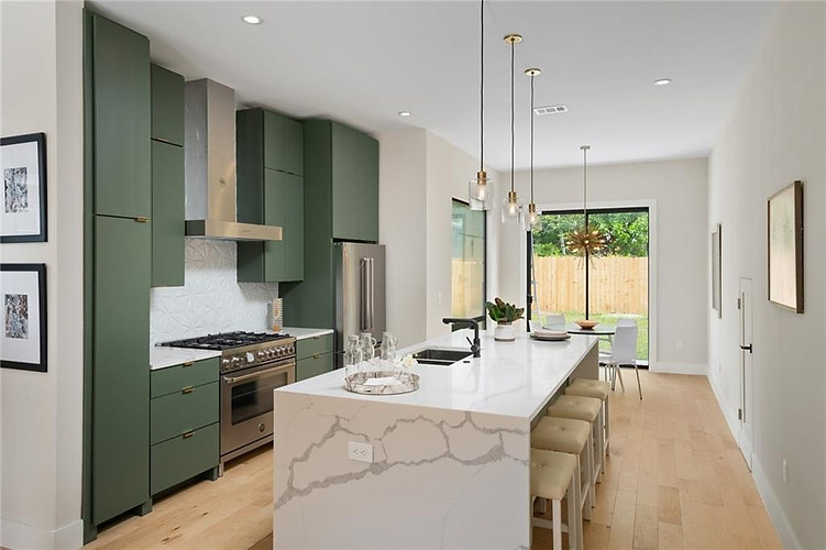 Open floorplan in the new build on Grover in Austin, TX