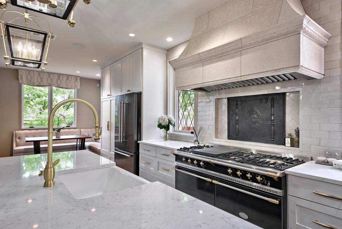 Historic Home Renovation Grand Kitchen in the Jarrett House in Austin, TX