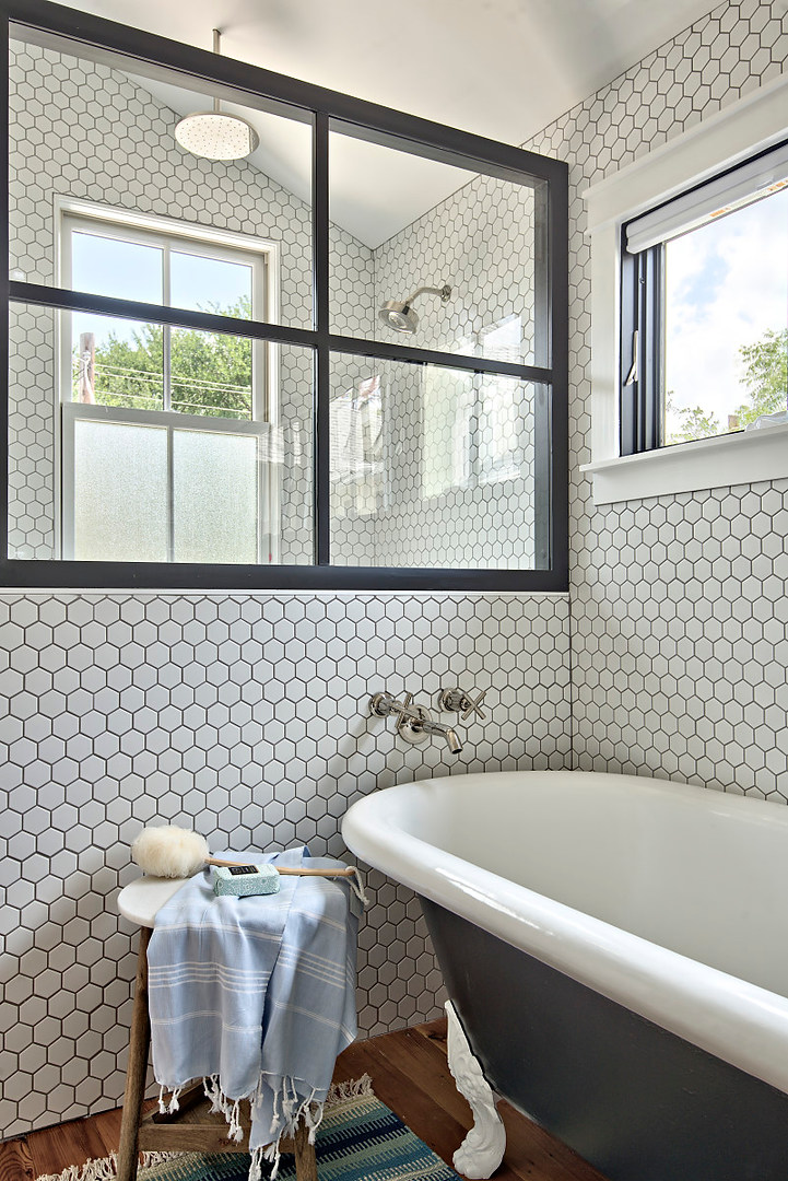 Historic Home Renovation Master Bath Tub in West 11th in Austin, Texas