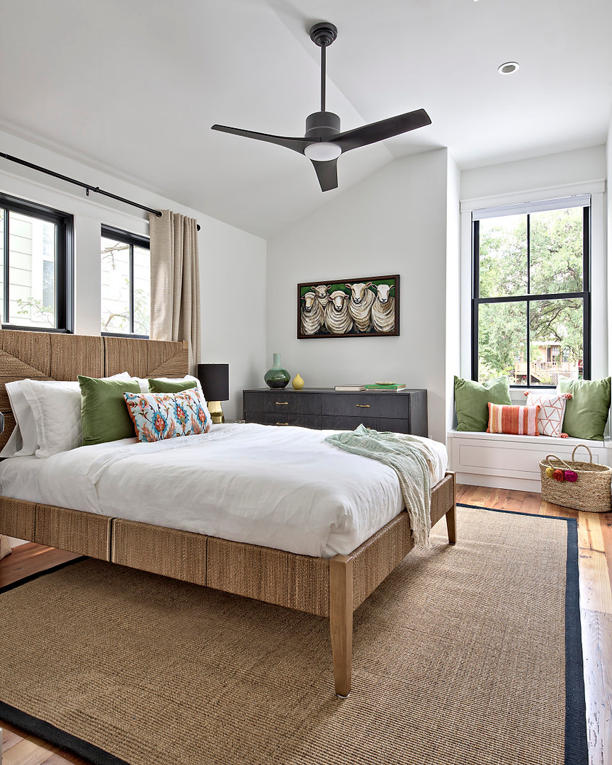 Historic Home Renovation Guest Bedroom in West 11th in Austin, Texas