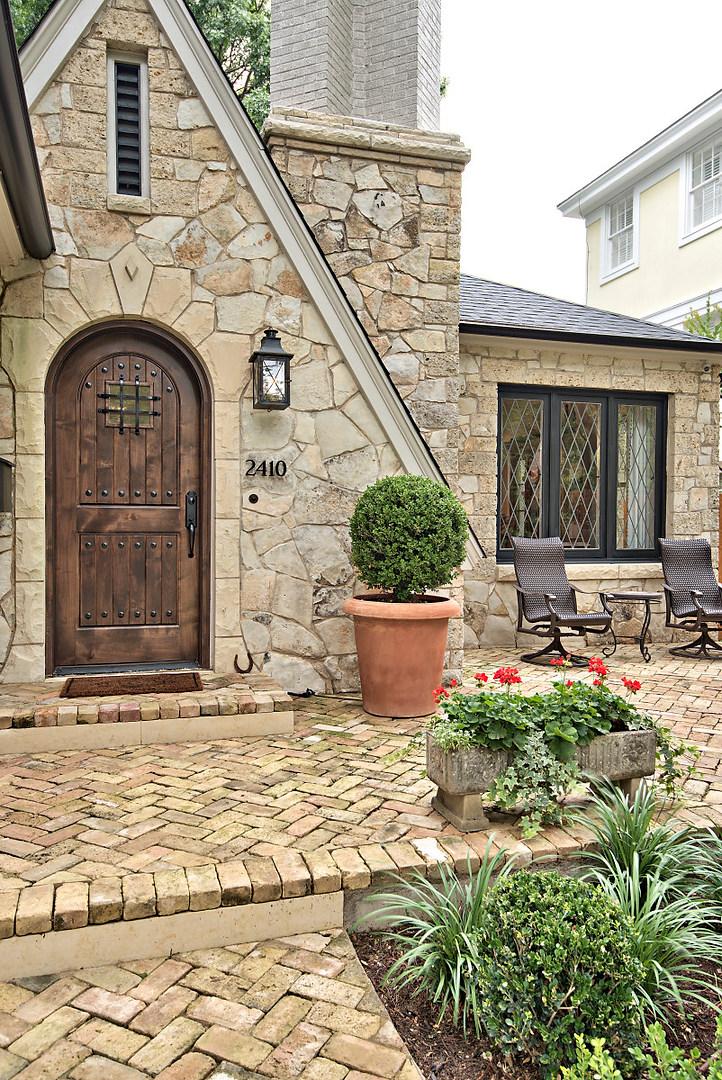Front Door of the Historic Home Renovation on Jarrett in Austin, TX