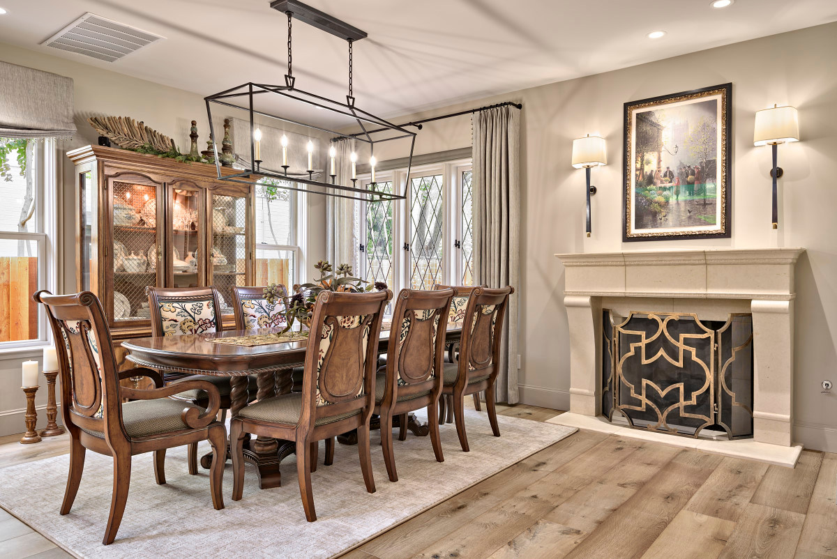 Formal Dining Area Historic Home Renovation in the Jarrett House in Austin, TX
