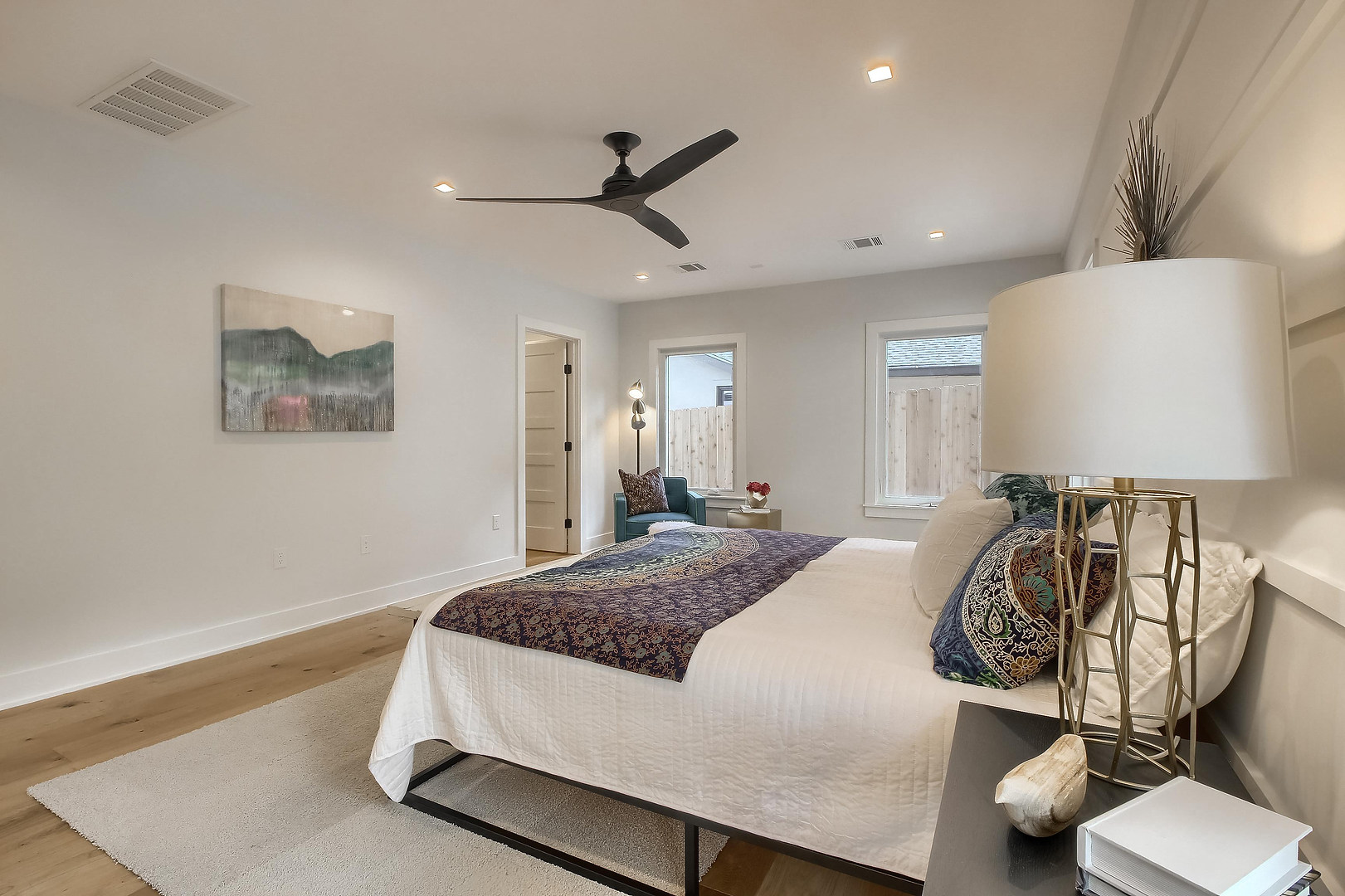 Home Renovation Master Bedroom Light Features on West 29th in Austin, Texas