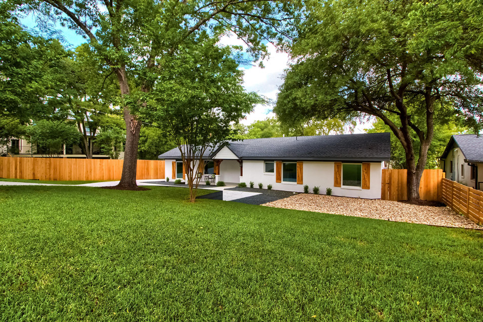 Landscape on the Home Renovation on West 29th in Austin, Texas