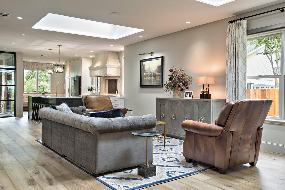 Living Room Historic Home Renovation in the Jarrett House in Austin, TX