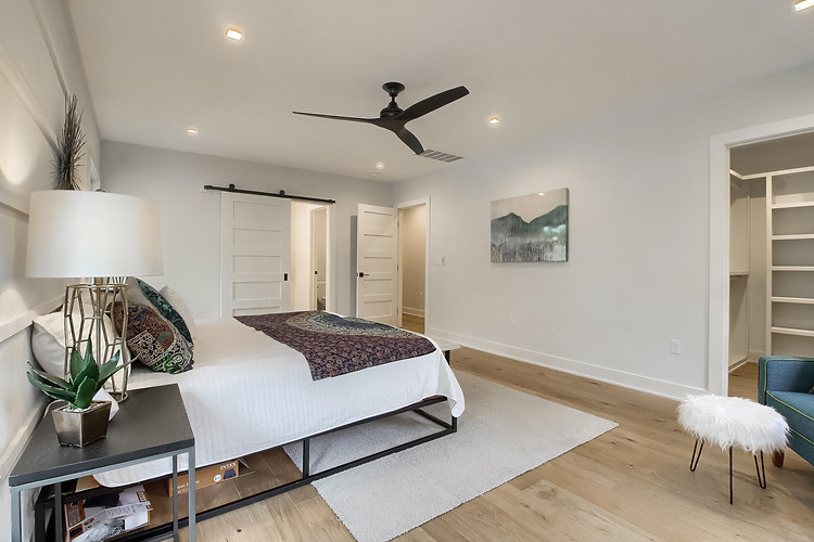 Home Renovation Master Bedroom Features on West 29th in Austin, Texas