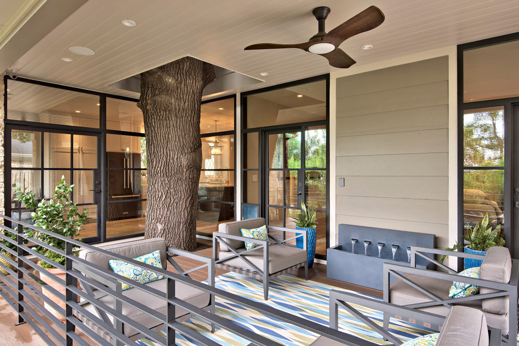 Historic Home Renovation Back Patio on Jarrett in Austin, TX